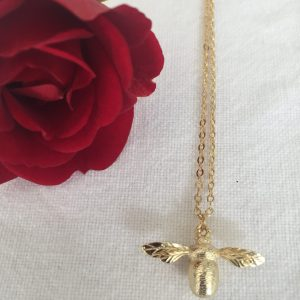 Getting Stuff Done in Heels | Home, Interiors and Lifestyle | Gold Plated Honey Bee Necklace