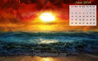 Desktop Wallpapers Calendar June 2018 (52+ images)