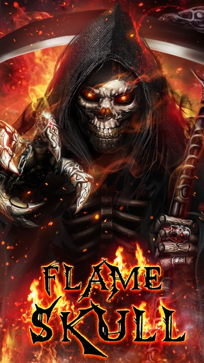 Flaming Skull Wallpapers (50+ images)