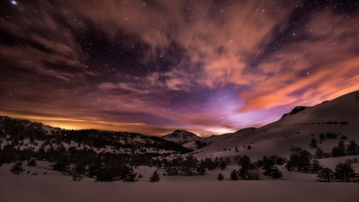 Winter Night Sky Wallpaper (64+ images)