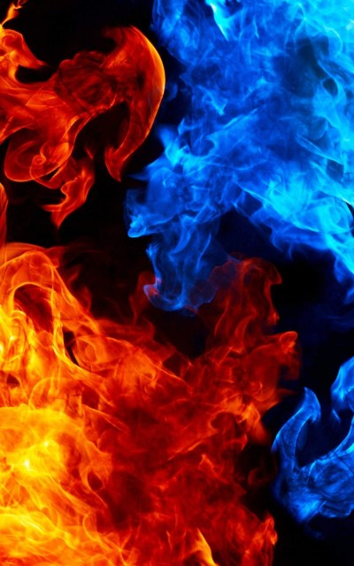 Red and Blue Fire Wallpaper (59+ images)