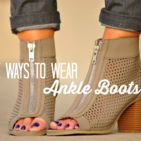 Five Ways to Wear Ankle Boots