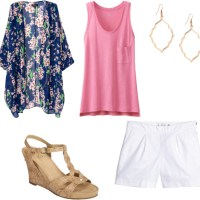 Easy Summer Outfit: Kimono, Flowy Top and Shorts