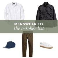 Menswear Fix:  The October List