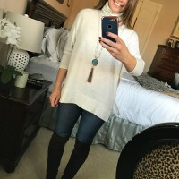 SAHMonday:  Turtleneck, Jeans and Over the Knee Boots