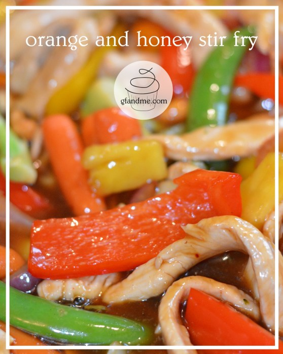 orange and honey stir fry