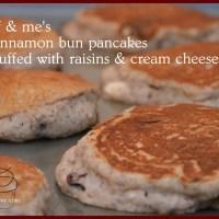 gluten free cinnamon bun pancakes: OMG