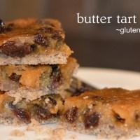 butter tart slice (gluten free)