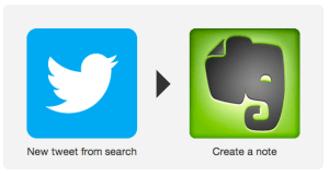 ifttt twitter to evernote