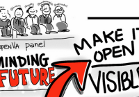 doodle of panel presenters