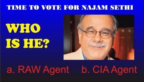 Najam Sethi - CIA & RAW Agent