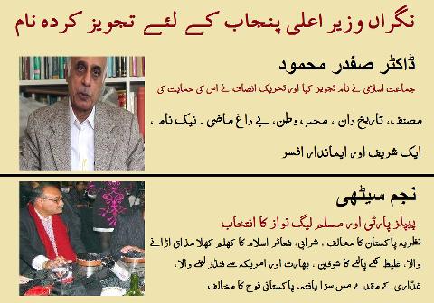 Najam Sethi vs Dr. Safdar Mahmood