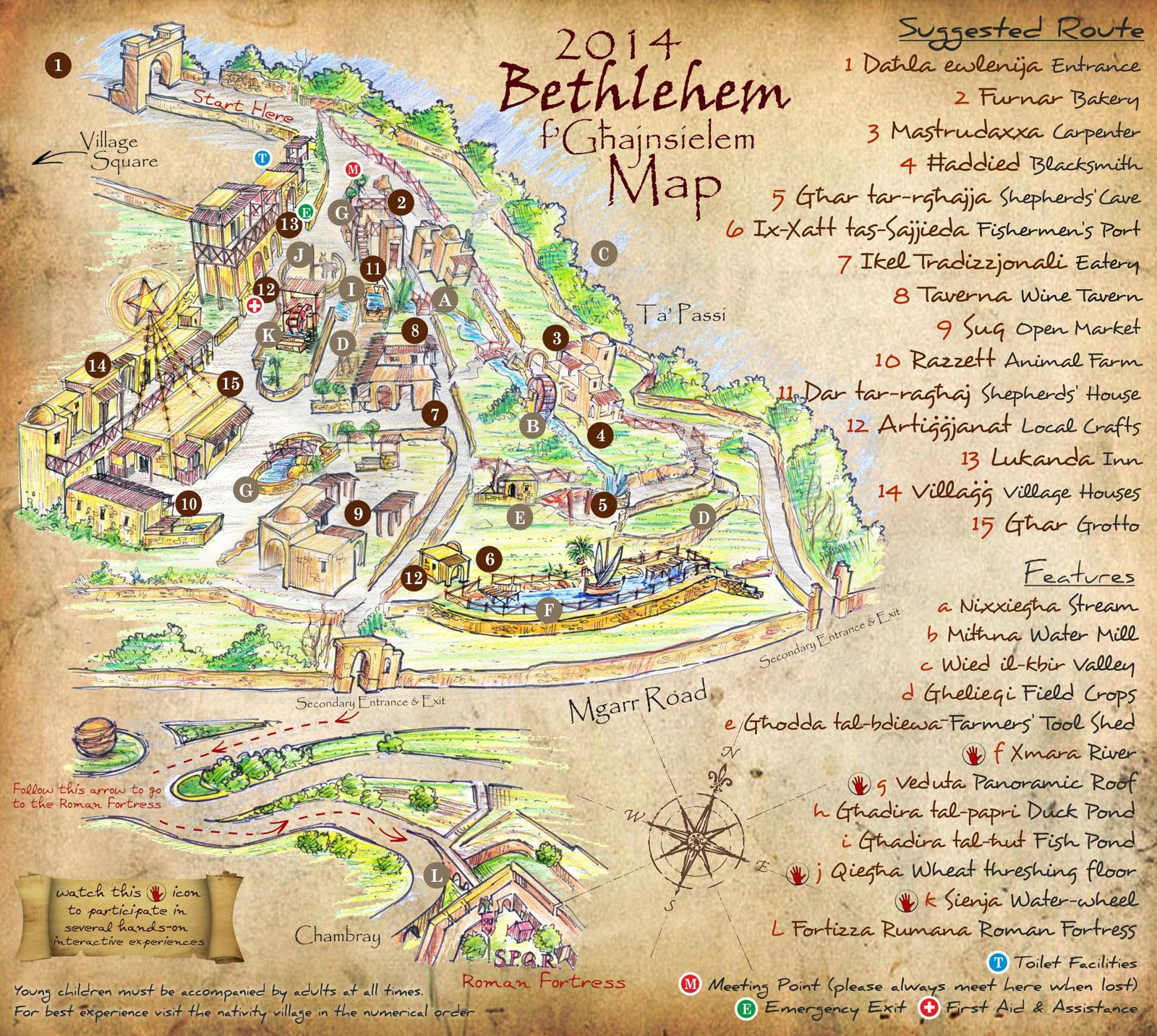 Bethlehem fGhajnsielem 2014 Map unveiled Ghajnsielemcom
