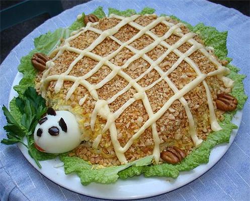 Черепаха салат рецепт с