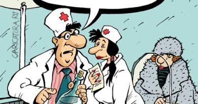 карикатура медсестра