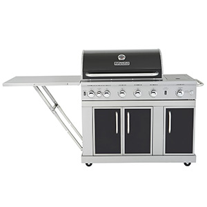 Kitchenaid 5 Burner Gas Grill Master Forge Liquid Propane 6554 Intended Design Inspiration