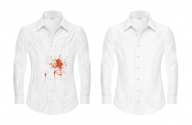 set-of-vector-illustrations-of-a-white-shirt-with-a-red-spot-and-clean-before-and-after-a-dry-cleaner_1441-614