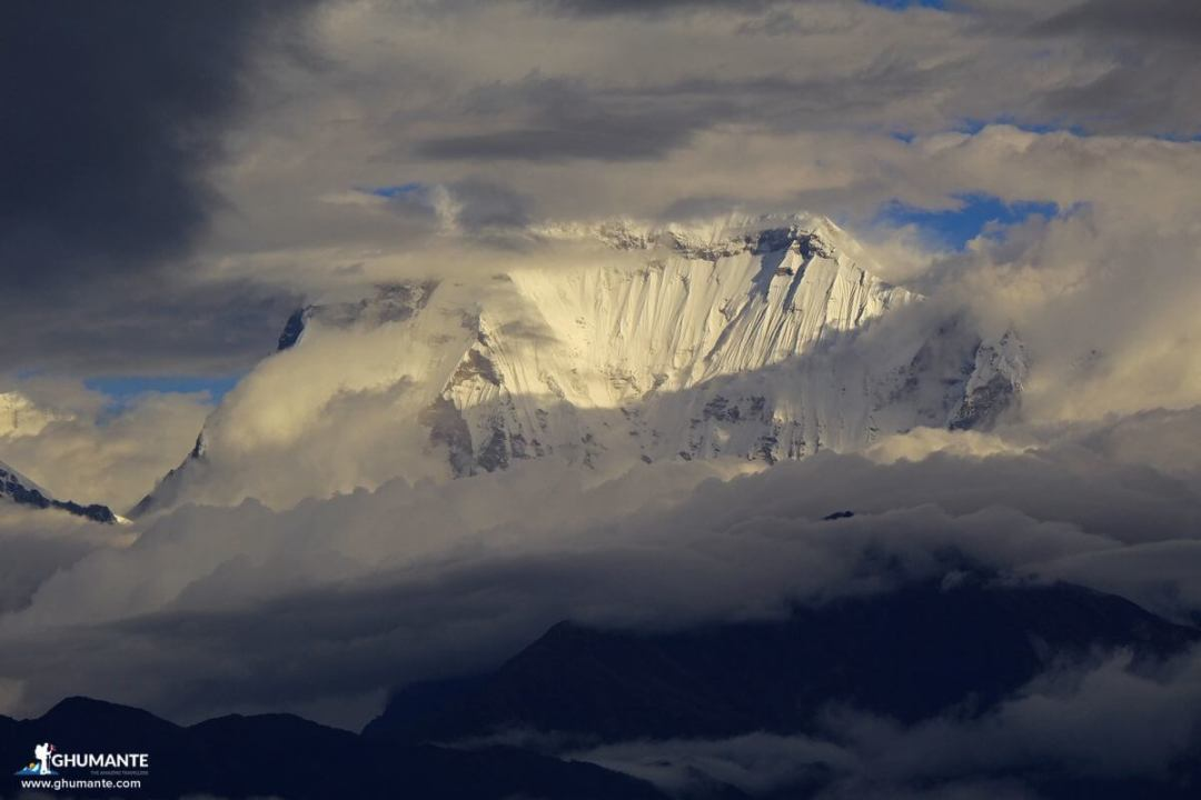 Glimpse of Mt. Dhaulagiri from Poon Hill