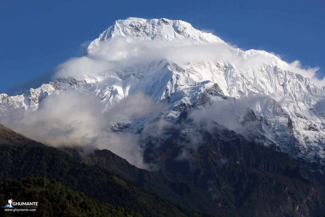 Mt. Annapurna South upclose from Ghandruk