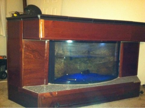 Granite Custom built aquatic bar / 100 gallon fish tank all set up