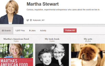 Pinterest drives way more traffic to Martha Stewart than Facebook