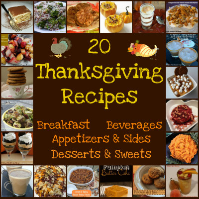 20 Thanksgiving Day Food Musts:  A Recipe Round Up