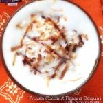 Frozen Coconut Banana Daiquiri with Brown Sugar