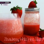 Strawberry White Wine Slush