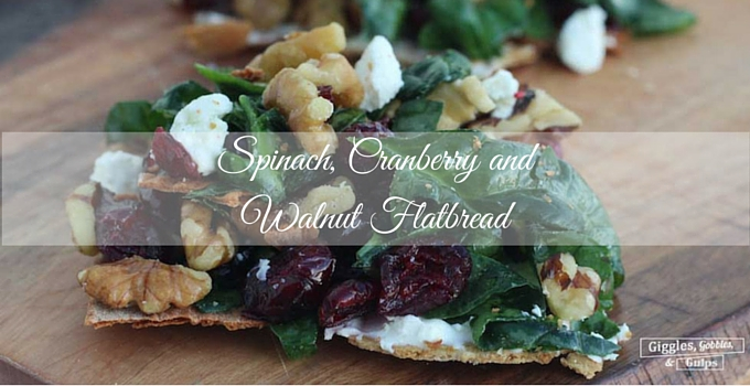 Spinach, Walnut and Cranberry Flatbread with BJ's Wholesale Club