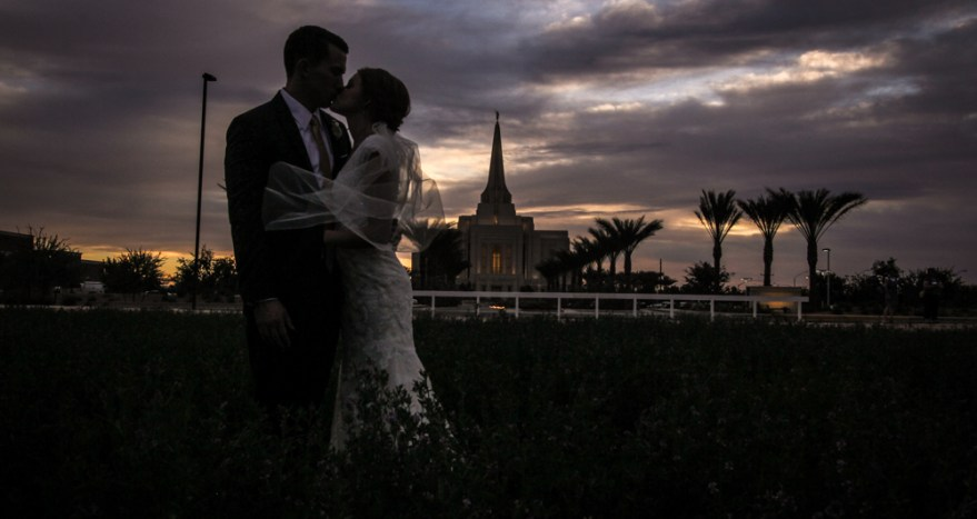 Sunset picture Gilbert Temple Wedding