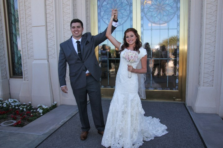 Just Married Gilbert AZ Temple