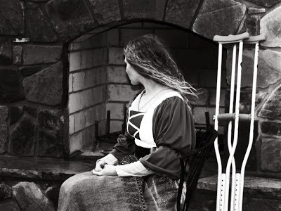wistful medieval girl