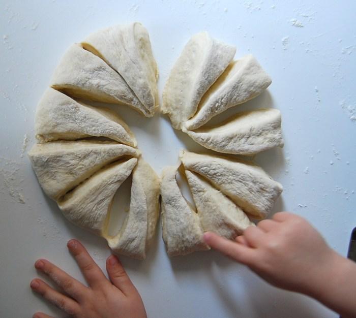 breakfast rolls dough