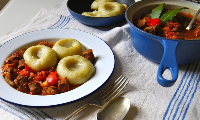 goulash and potato dumplings 2