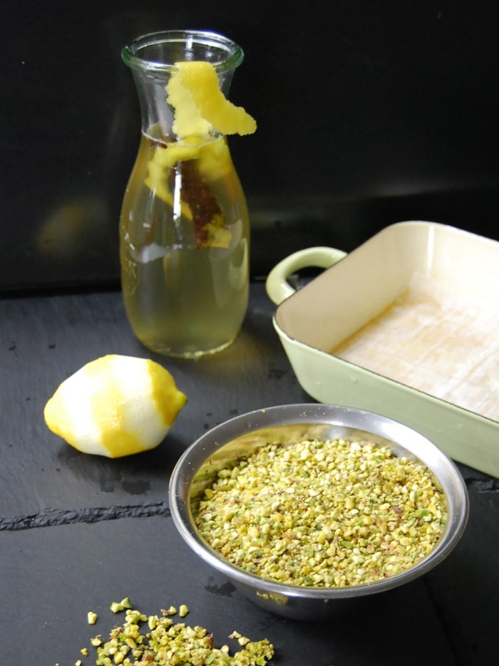 Baklava pistachoes