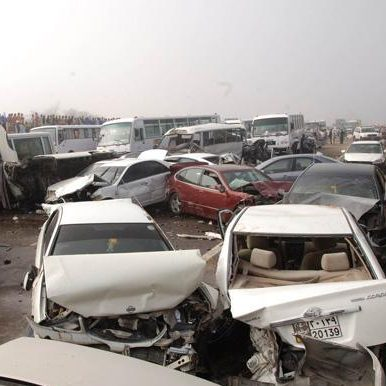 200-Car Accident Today in Dubai – Abu Dhabi