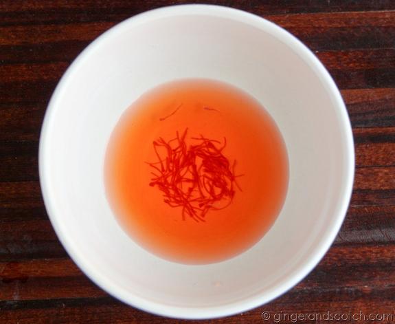 Soaking Saffron