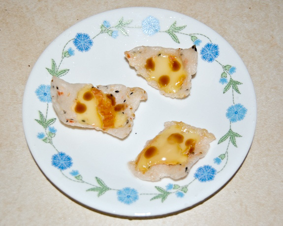 Bánh dap with melted Époisses