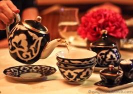 Uzbek teapot and cups @ Gulnaz Restaurant Dubai