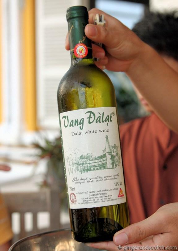 Vietnamese White Wine from Dalat