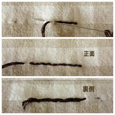 本返し縫いの方法