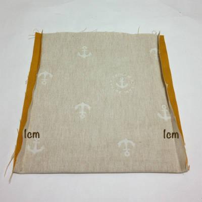 表布の両端を縫う