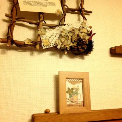 写真フレームの壁飾り
