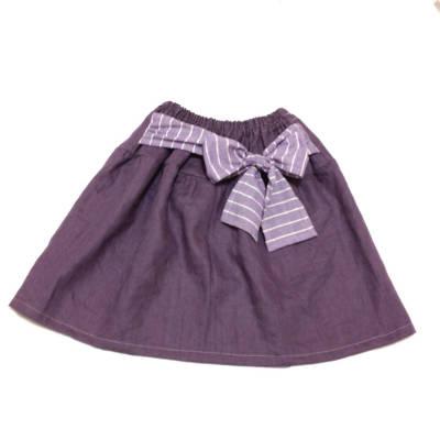 リボン付きギャザースカート