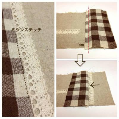 別布を縫いつける1