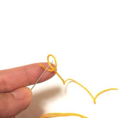 糸を一周回す