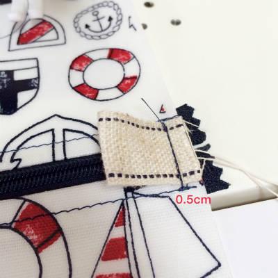 タグを縫う