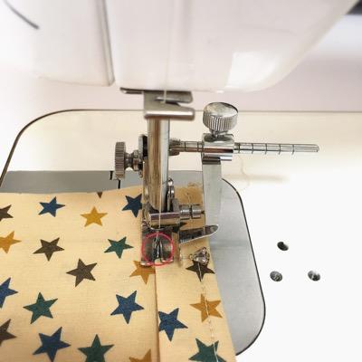 2〜3針の返し縫い