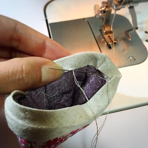 縦まつり縫い