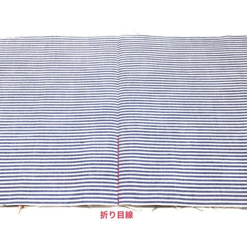 折り線にミシン